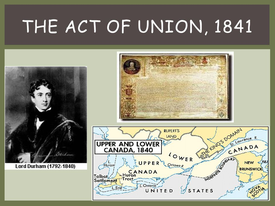 The Act of Union, 1841
