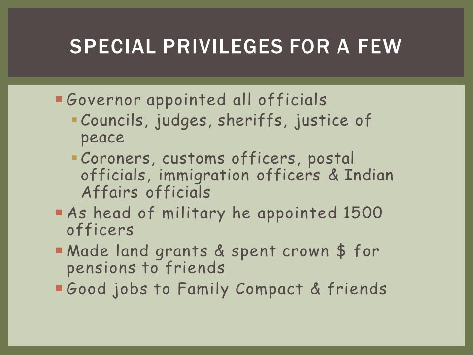 Special Privileges for a Few