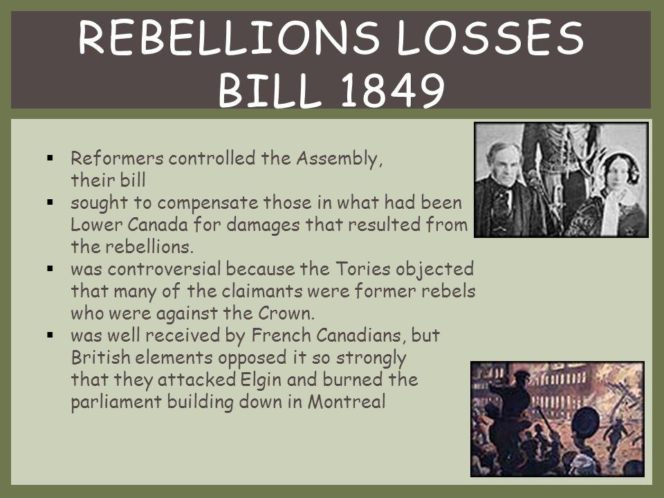 Rebellions Losses Bill 1849