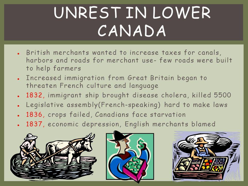 Unrest in Lower Canada
