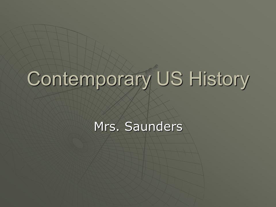 Contemporary US History