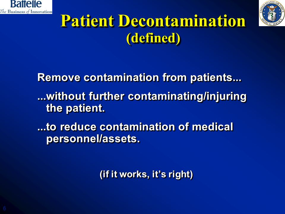 Patient Decontamination (defined)