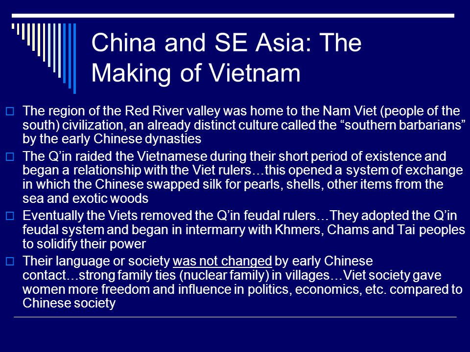 China and SE Asia: The Making of Vietnam