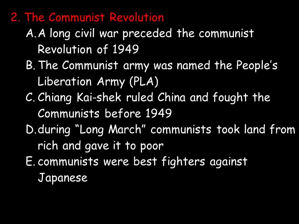 2. The Communist Revolution