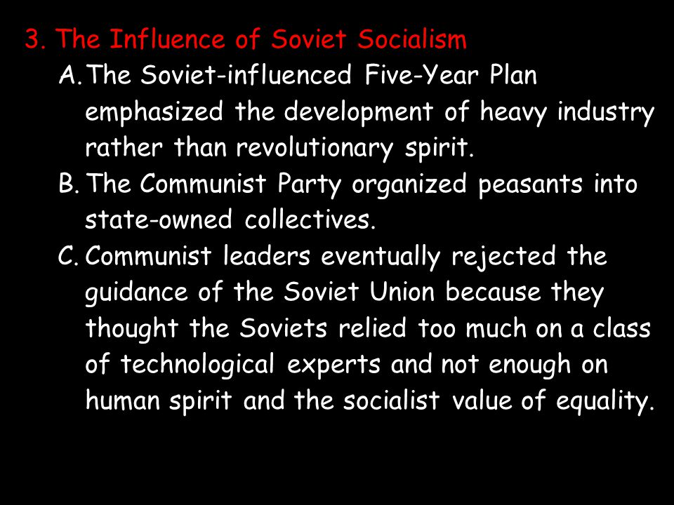 3. The Influence of Soviet Socialism