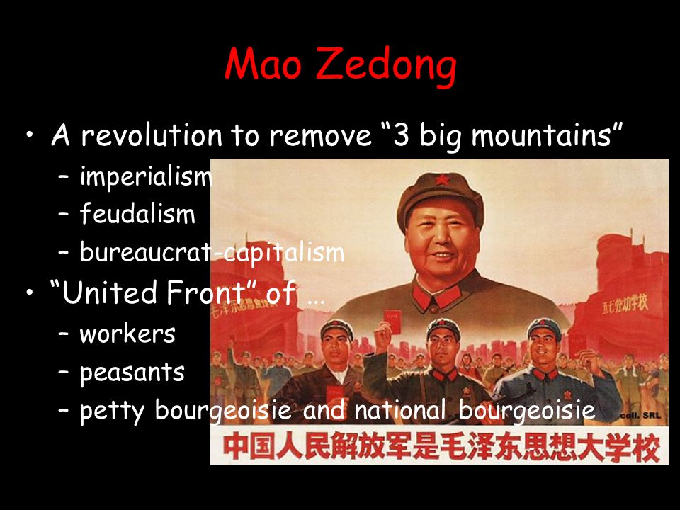 Mao Zedong A revolution to remove 3 big mountains