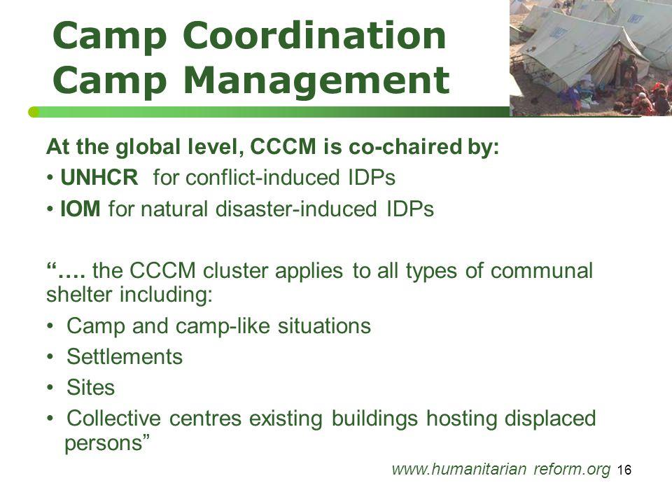 Camp Coordination Camp Management