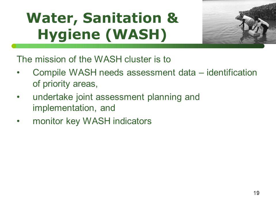 Water, Sanitation & Hygiene (WASH)