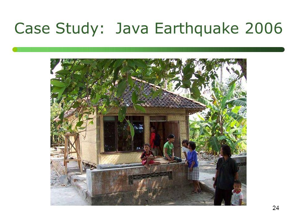 Case Study: Java Earthquake 2006