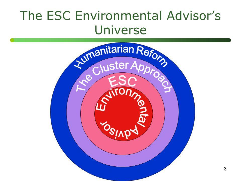 The ESC Environmental Advisor's Universe