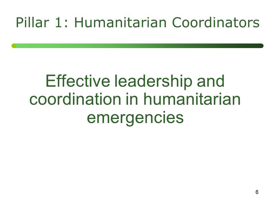 Pillar 1: Humanitarian Coordinators