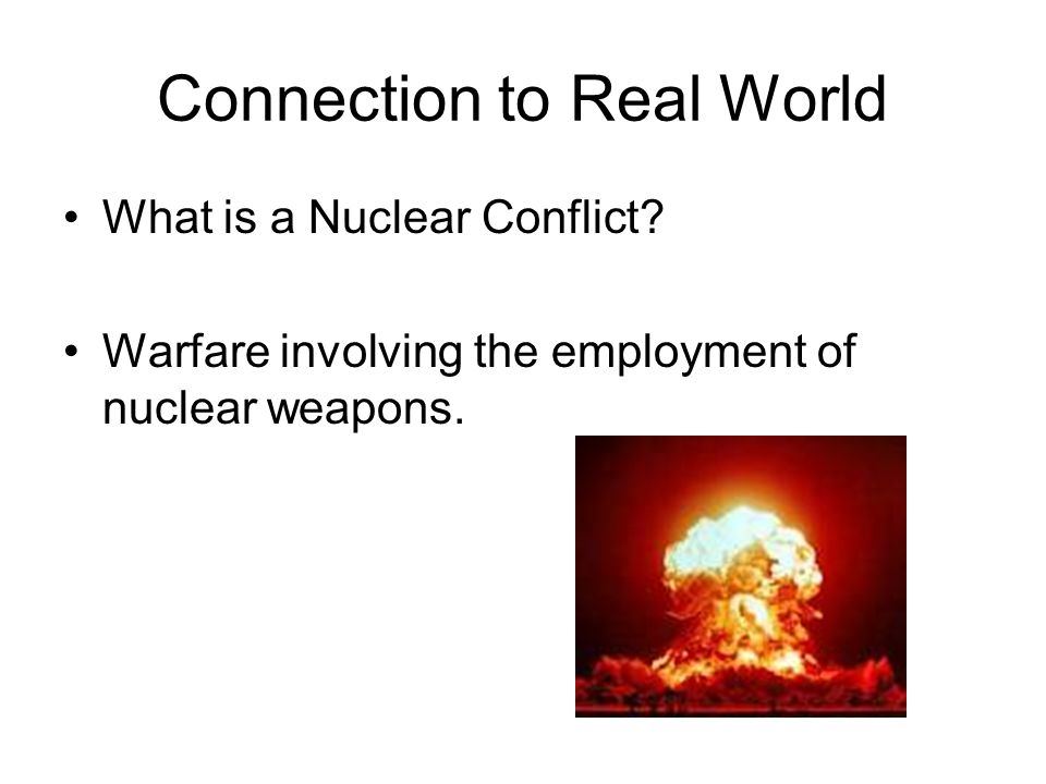 Connection to Real World