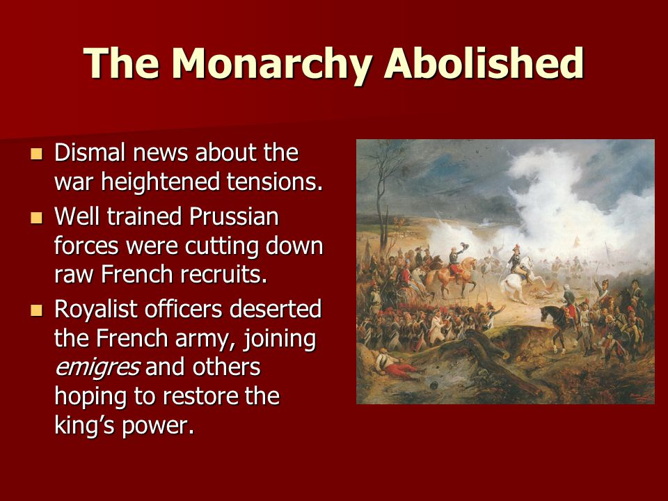 The Monarchy Abolished
