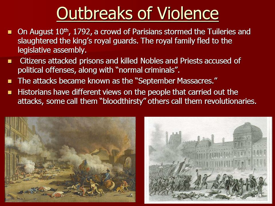 Outbreaks of Violence
