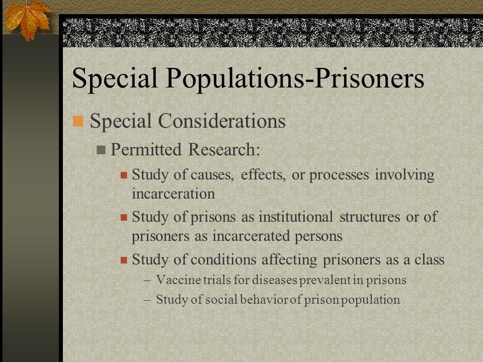 Special Populations-Prisoners