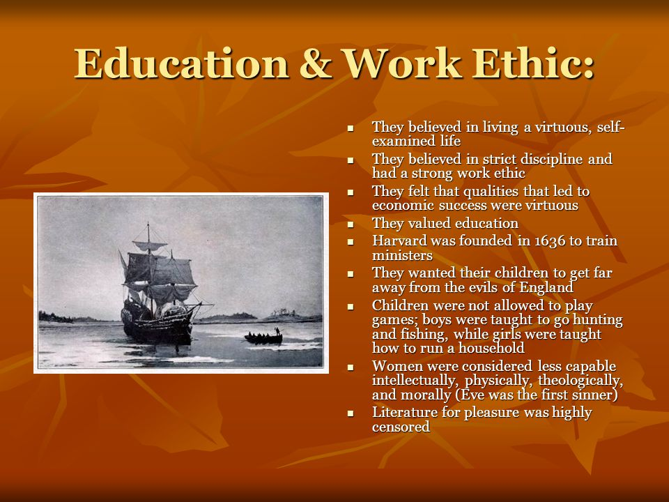 Education & Work Ethic: