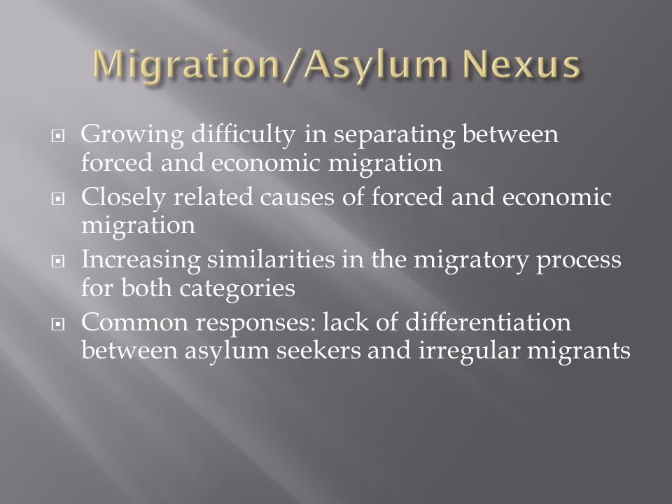 Migration/Asylum Nexus