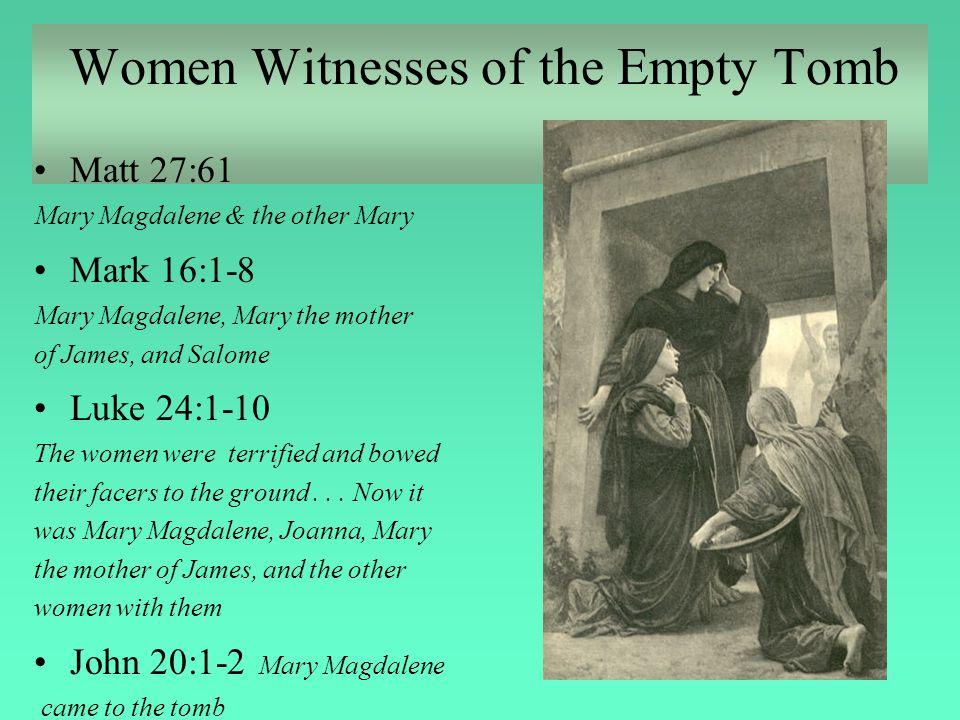 Women Witnesses of the Empty Tomb