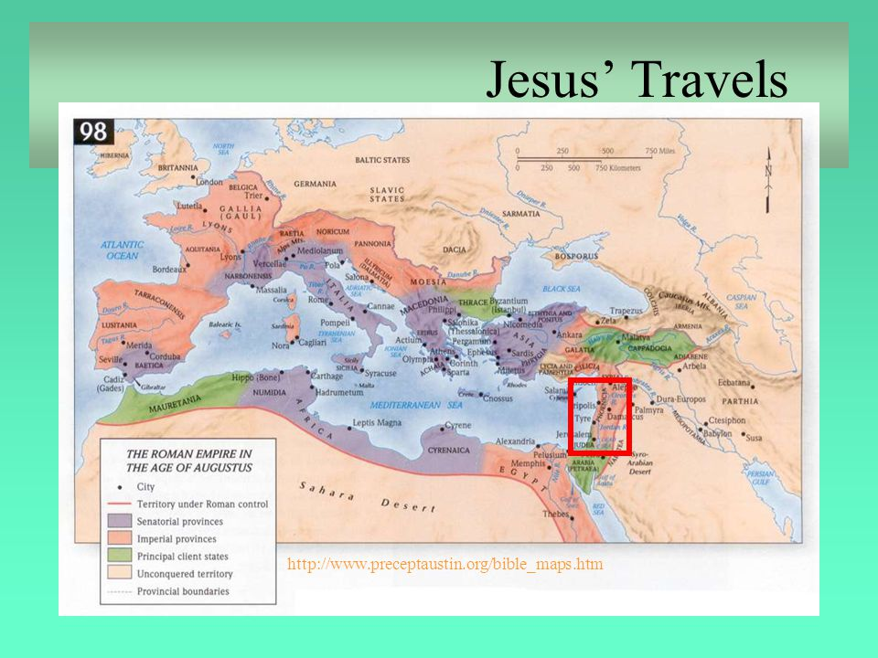 Jesus' Travels http://www.preceptaustin.org/bible_maps.htm