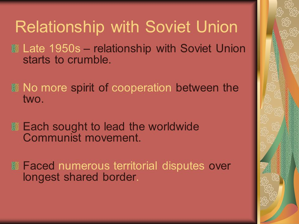 Relationship with Soviet Union