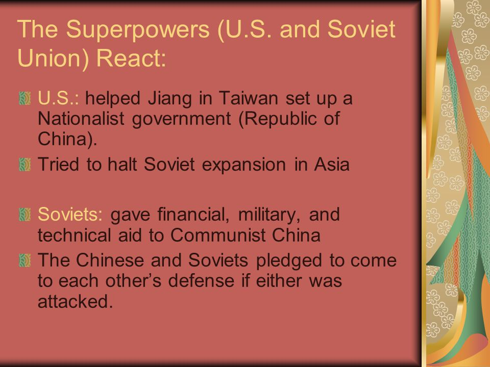 The Superpowers (U.S. and Soviet Union) React: