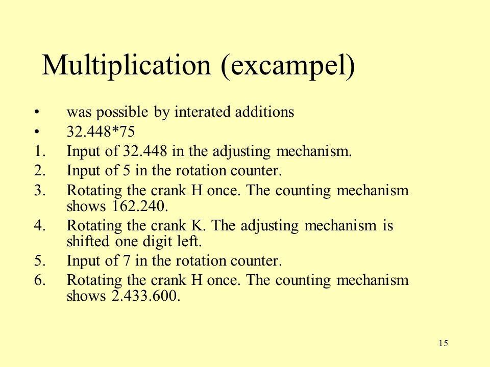 Multiplication (excampel)