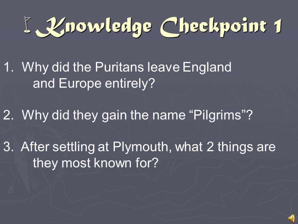 wKnowledge Checkpoint 1