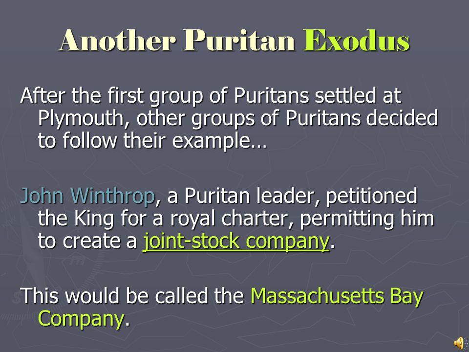 Another Puritan Exodus