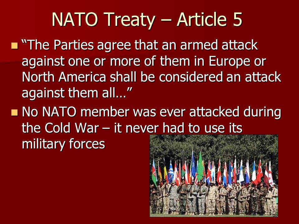 NATO Treaty – Article 5