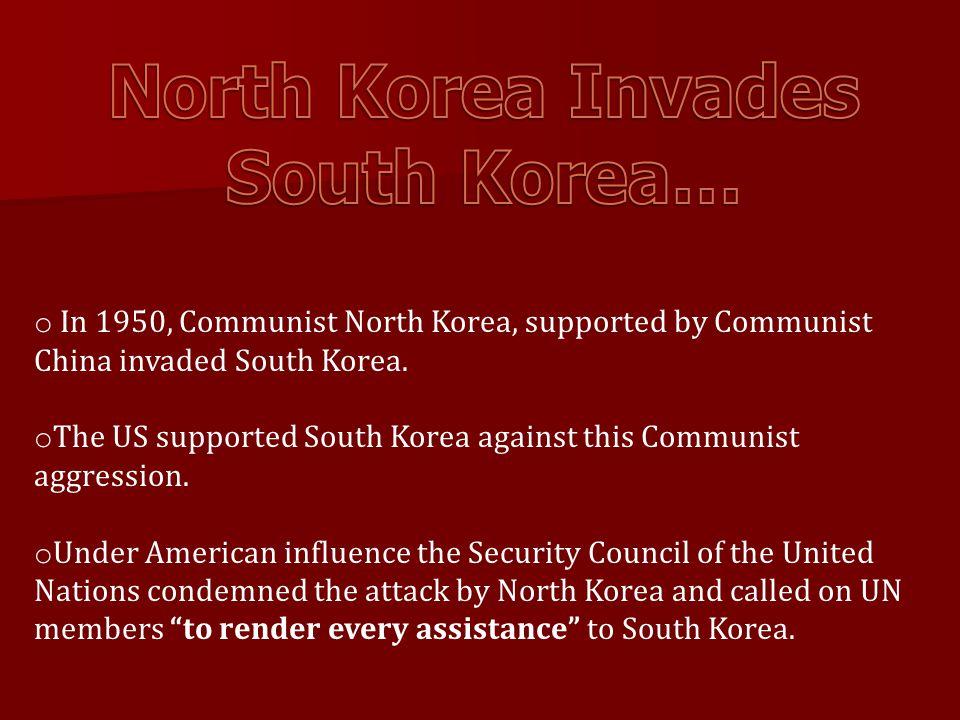 North Korea Invades South Korea…