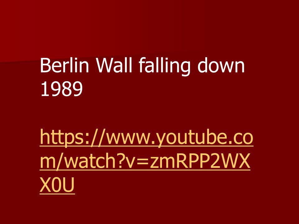 Berlin Wall falling down 1989