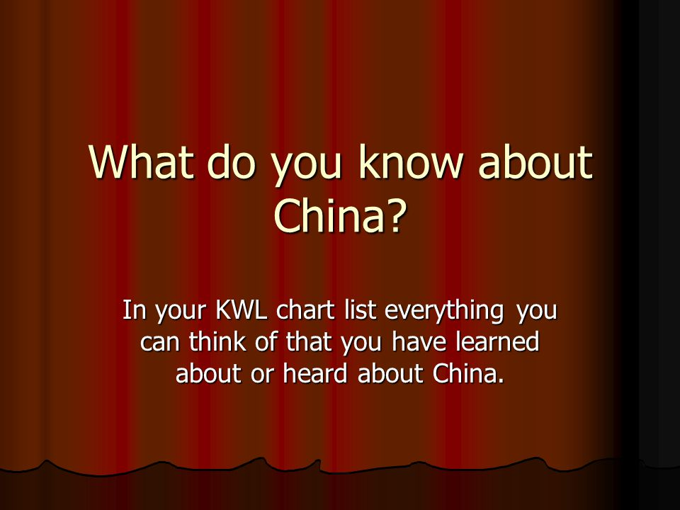 What do you know about China