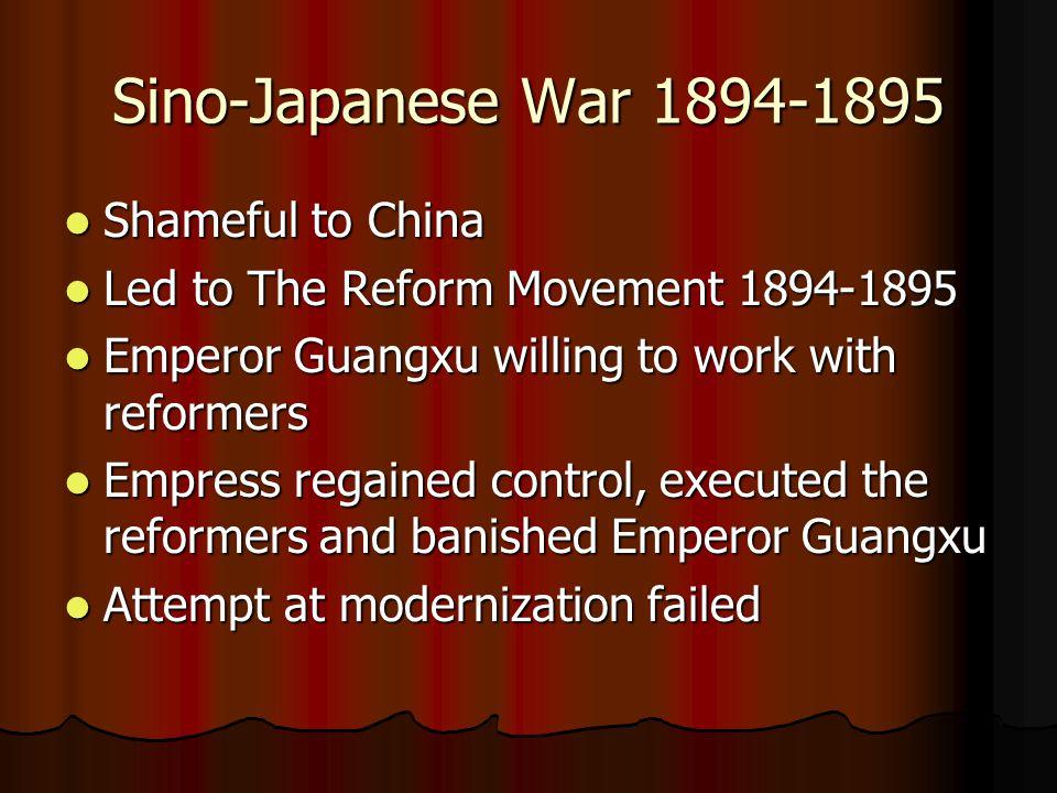 Sino-Japanese War 1894-1895 Shameful to China