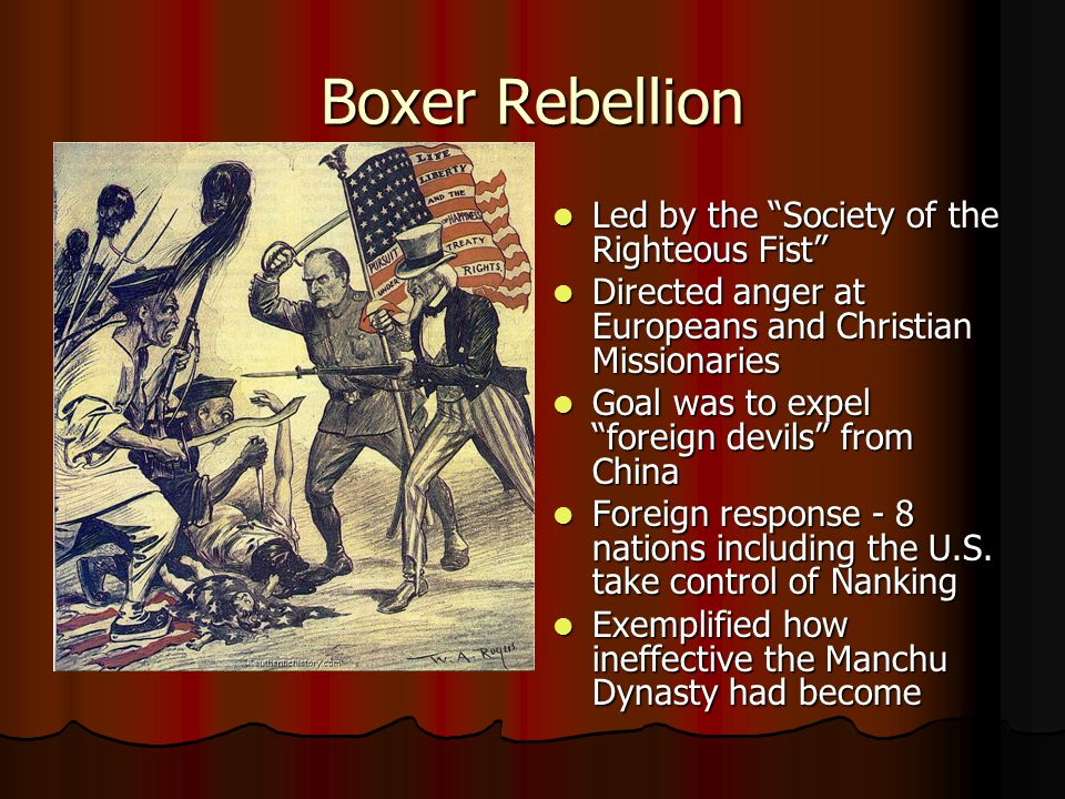 Boxer Rebellion Led by the Society of the Righteous Fist