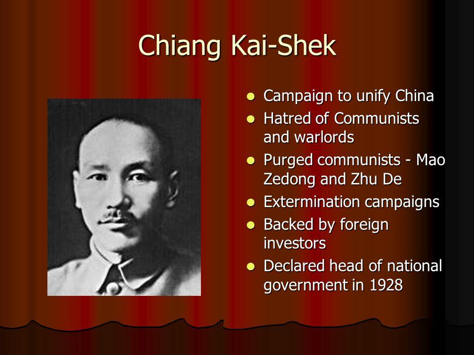 Chiang Kai-Shek Campaign to unify China