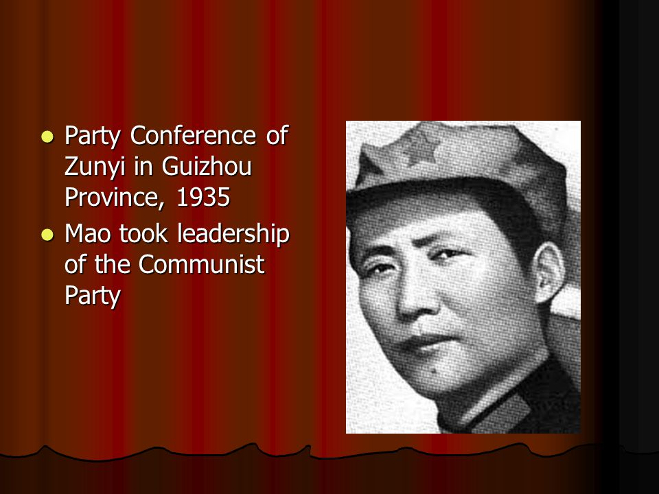 Party Conference of Zunyi in Guizhou Province, 1935