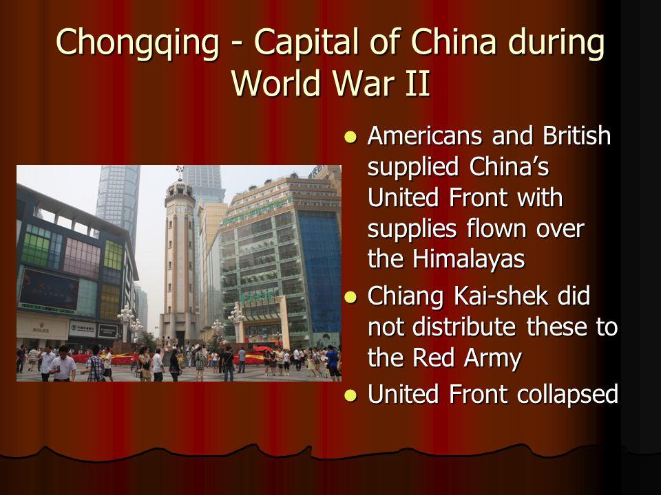 Chongqing - Capital of China during World War II
