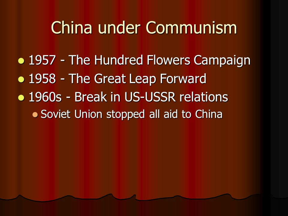 China under Communism 1957 - The Hundred Flowers Campaign