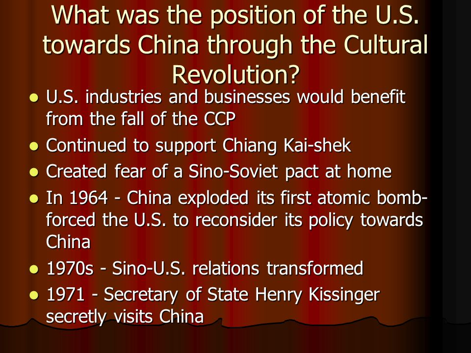 What was the position of the U. S