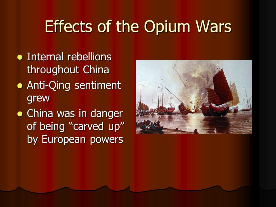 Effects of the Opium Wars
