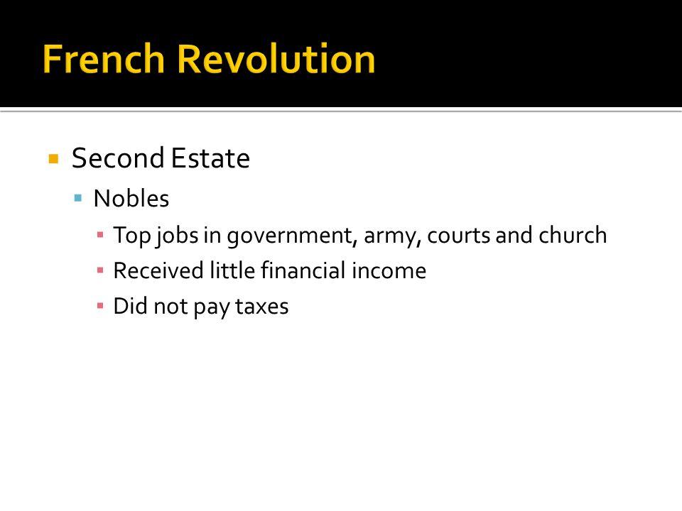 French Revolution Second Estate Nobles