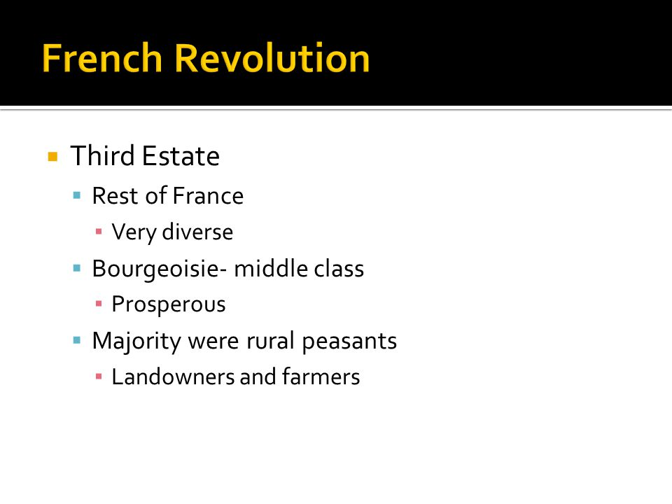 French Revolution Third Estate Rest of France