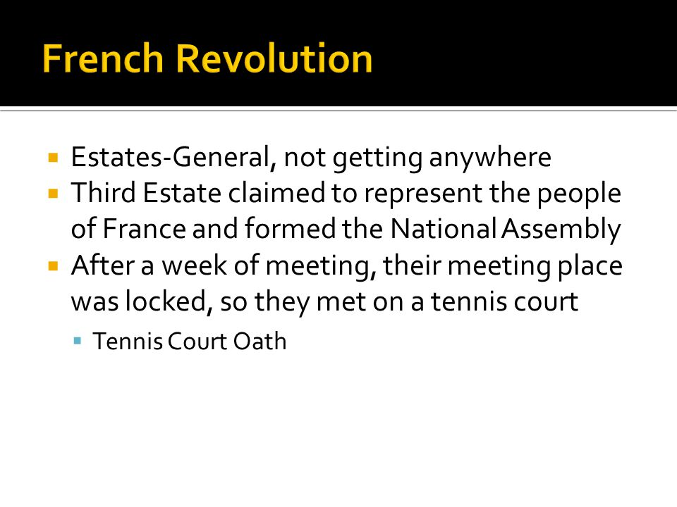 French Revolution Estates-General, not getting anywhere