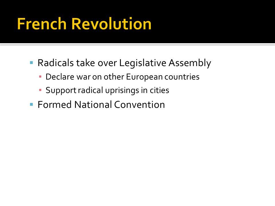 French Revolution Radicals take over Legislative Assembly