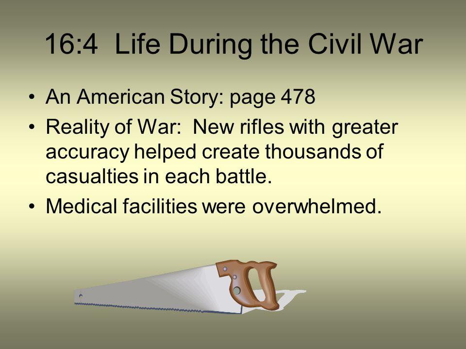 16:4 Life During the Civil War