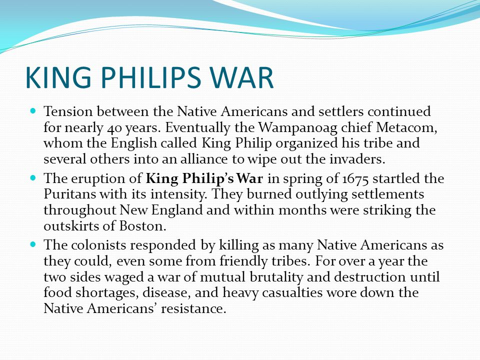 KING PHILIPS WAR