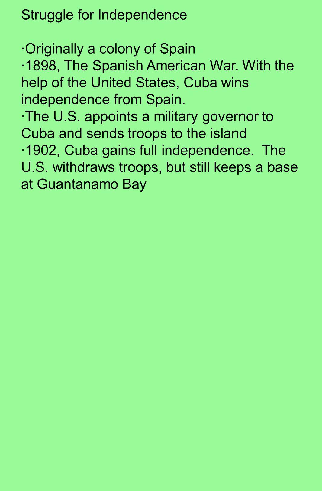 Struggle for Independence