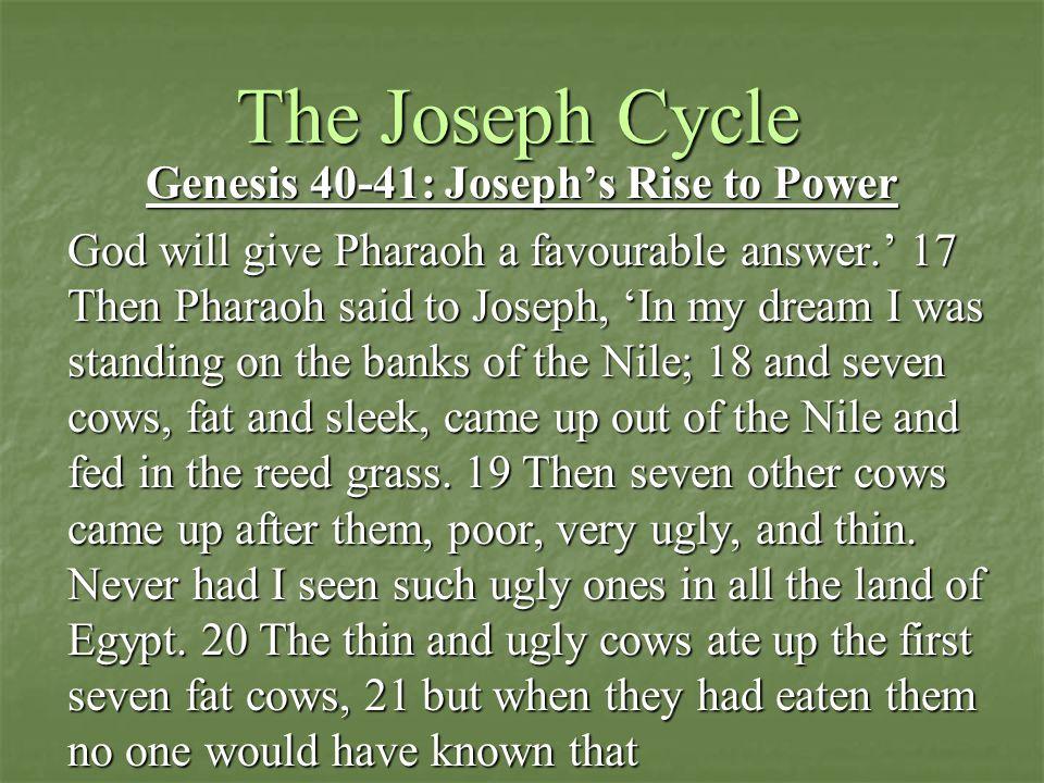 Genesis 40-41: Joseph's Rise to Power