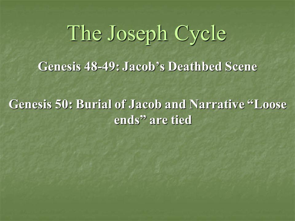 The Joseph Cycle Genesis 48-49: Jacob's Deathbed Scene