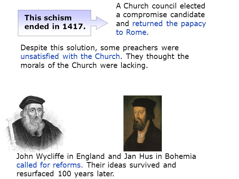 A Church council elected a compromise candidate and returned the papacy to Rome.
